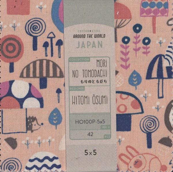 5x5 inch Päckchen Mori no Tomodachi