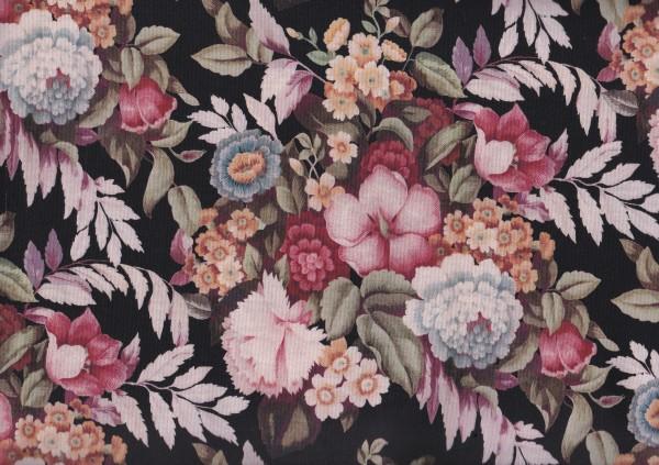 Vintage Aubusson Floral Black