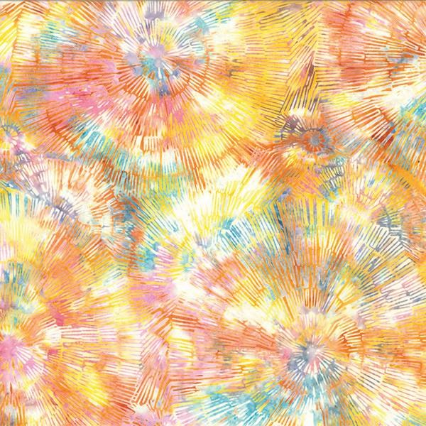 Batik Baumringe Multi pastel
