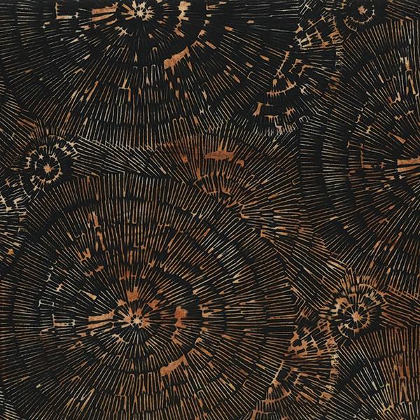 Batik Baumringe Schwarz-Braun