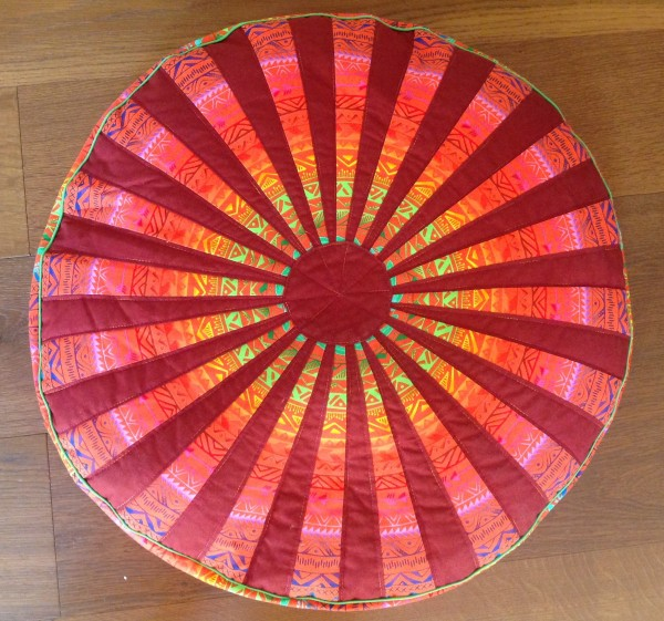 Materialpackung für rundes Bodenkissen - Orange