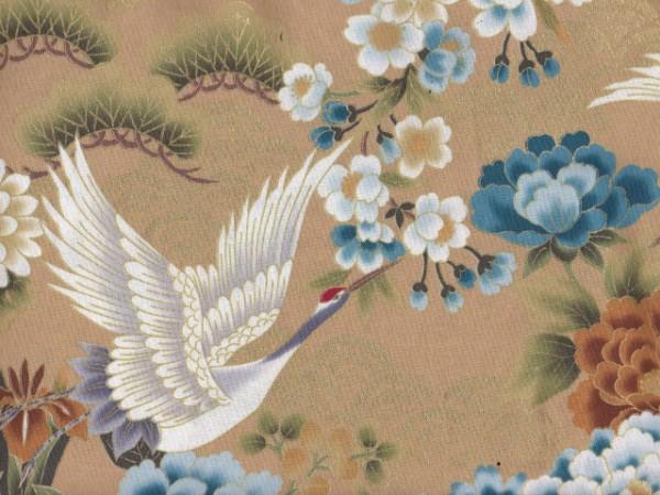 Japan Flowers-Beige