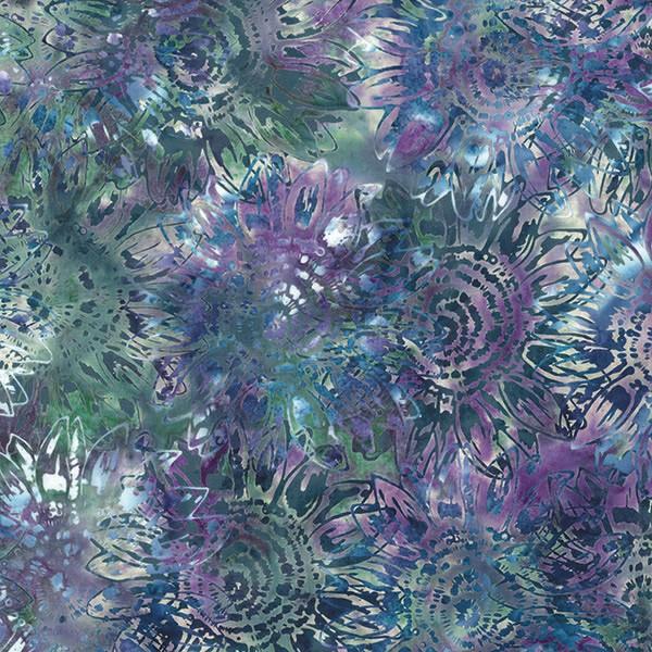 Batik Blumen Grau-Lila