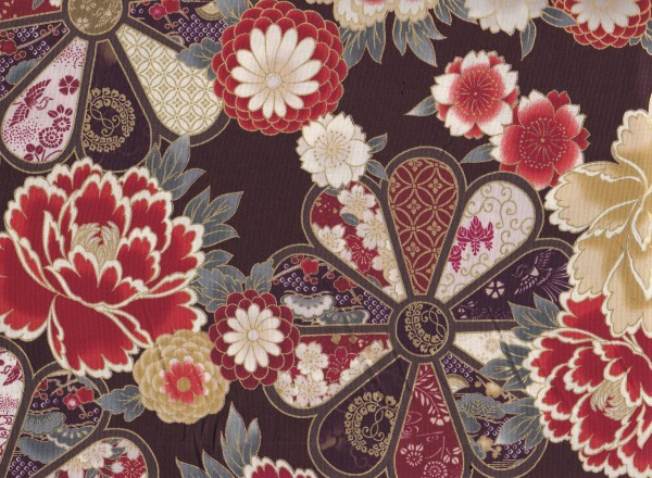 Blumen Braun-Rot