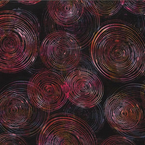 Batik Kreise Schwarz-Pink