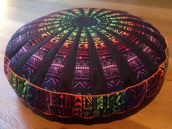 Materialpackung für rundes Bodenkissen - Schwarz