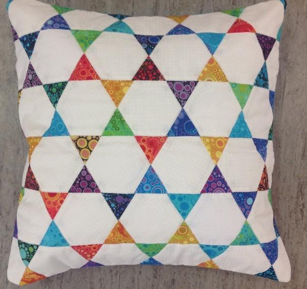 Hexagon Kissen Weiß