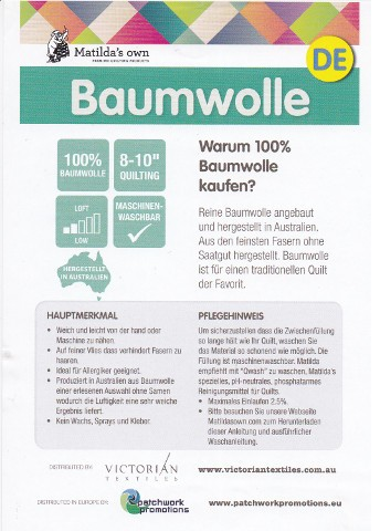 Vlies-Matilda´s own Baumwollvlies