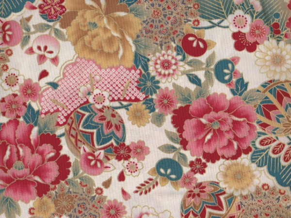 Japan Flowers-creme