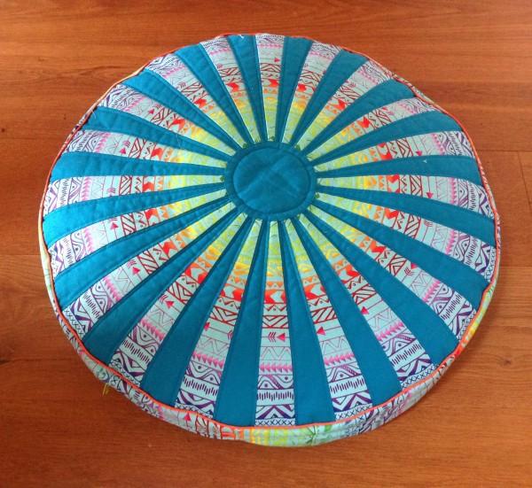 Materialpackung für rundes Bodenkissen- Türkis