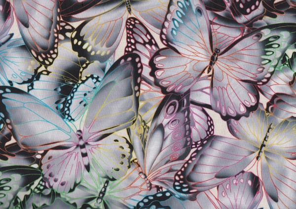 Butterflies Digital - Grey