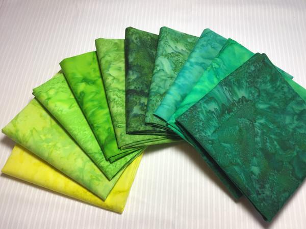 FQ Päckchen Batik Green