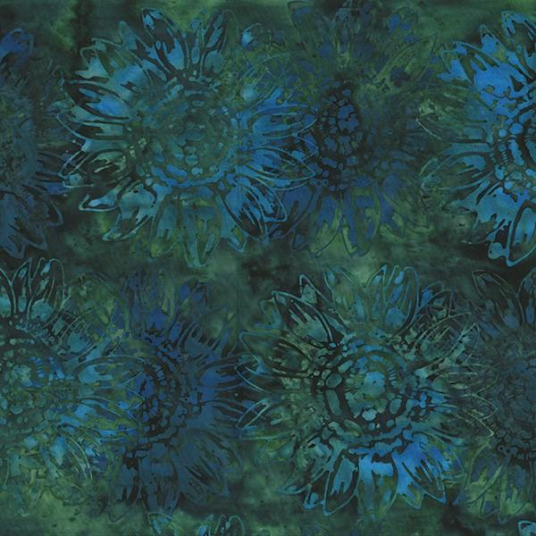 Batik Blumen Grün
