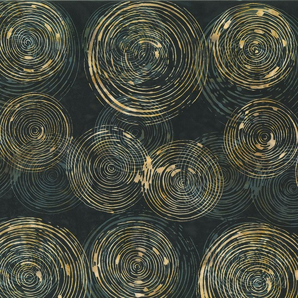 Batik Braun-Schwarz- Kreise